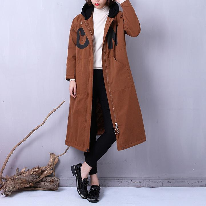 Fine chocolate women parkas plus size clothing hooded YZ-2018111401