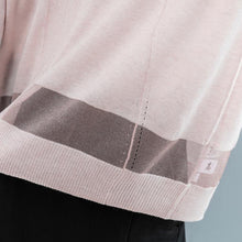 Load image into Gallery viewer, Fine pink  sweater oversize v neck knitted tops casual batwing sleeve t shirt