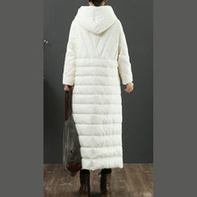 Load image into Gallery viewer, Fine white coats trendy plus size winter jacket embroidery hooded winter outwear