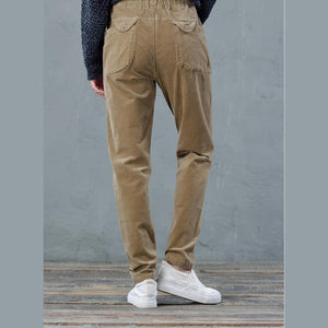 Fine camel cordury pants casual women trousers