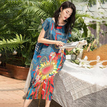 Load image into Gallery viewer, Floral Printed Elegant Literary Summer Dress