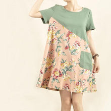 Load image into Gallery viewer, Flowers on the hill sundress cotton shift dress-will be available soon
