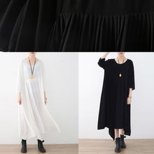 Load image into Gallery viewer, Flowy black chiffon clothes For Women Metropolitan Museum Shirts asymmetric loose Dress