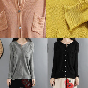 For Work yellow clothes For Women casual o neck knitwear long sleeve