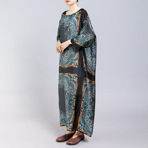 French Robes Fashion Silky Soft And Comfortable Printed Dress