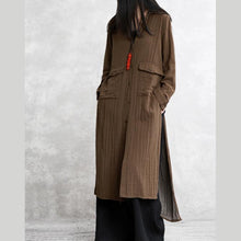 Laden Sie das Bild in den Galerie-Viewer, French side open cotton outwear Omychic Sleeve khaki coats spring