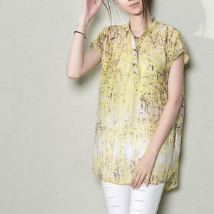 Gradient shooting star summer women shirt blouse top oversize casual clothing