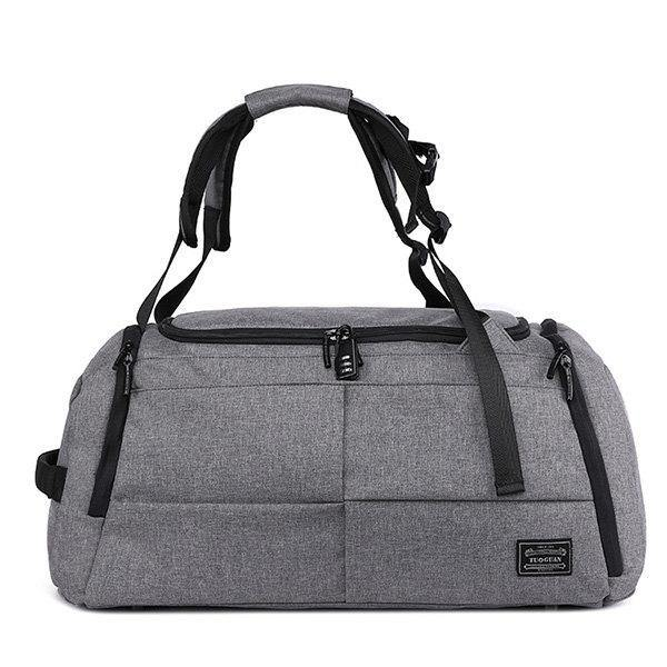 Gray Oxford Large Capacity Short Travel Bag Yoga Bag Anti-theft Sport Bag Backpack
