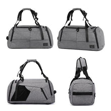 Load image into Gallery viewer, Gray Oxford Large Capacity Short Travel Bag Yoga Bag Anti-theft Sport Bag Backpack