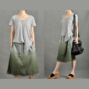 Gray Gradient sundress Casual Summer Dress-will be available soon