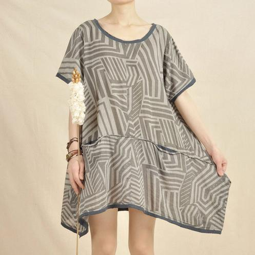 Gray Secret labyrinth sundress oversize shift dress