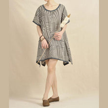 Load image into Gallery viewer, Gray Secret labyrinth sundress oversize shift dress