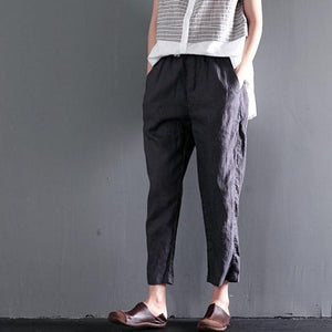 Gray causal linen summer pants oversize