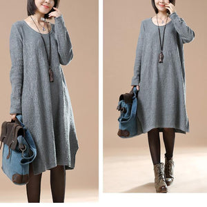 Gray loose sweater dresses oversize sweaters blouses