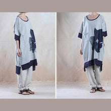 Load image into Gallery viewer, Gray oversize cotton maxi dress summer loose fit sundress caftan-will be available soon