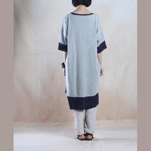 Gray oversize cotton maxi dress summer loose fit sundress caftan-will be available soon
