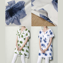 Laden Sie das Bild in den Galerie-Viewer, Green falling leaves sundress print shift dresses oversize summer maternity dresses