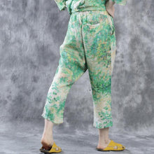 Load image into Gallery viewer, Green linen pants  New design