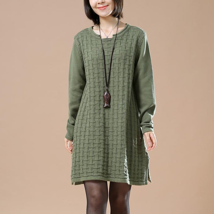 Green oversize new sweaters spring dresses knitted