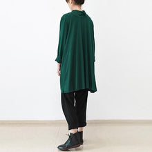 Laden Sie das Bild in den Galerie-Viewer, Green turtle neck oversized pullover dresses