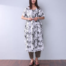 Load image into Gallery viewer, Printing Loose Pocket Women Casual Dress