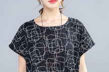 Load image into Gallery viewer, Irregular Round Neck Short Sleeve Casual Women Dress