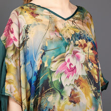 Load image into Gallery viewer, Irregular Hem Floral Printed Silky Dress