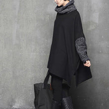 Load image into Gallery viewer, Italian high neck Cotton side open clothes Women Inspiration gray thick woolen Dresses