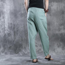 Load image into Gallery viewer, Light green linen pants  fall