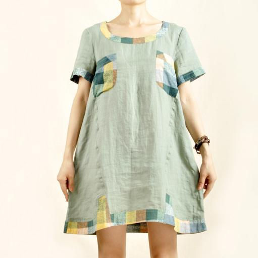 Light green linen shirt dress sundress-will be available soon