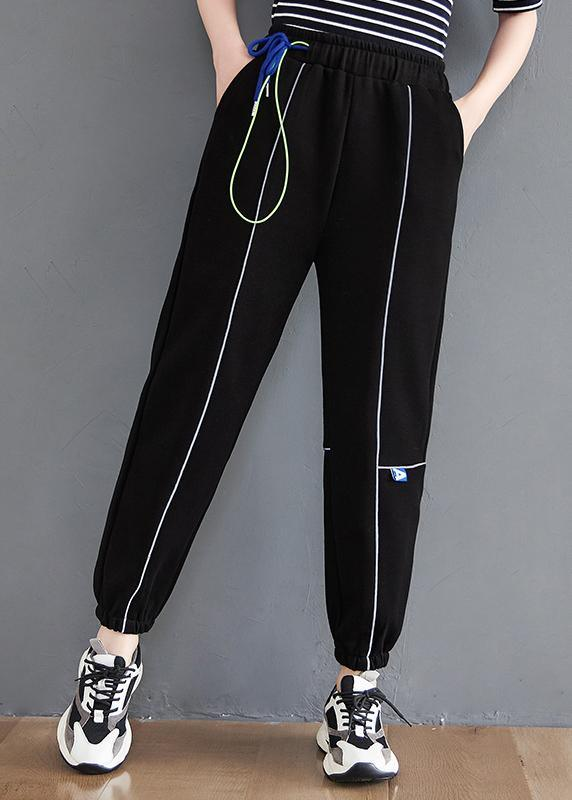 Loose Black Pant Casual Spring Women Trousers