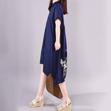 Laden Sie das Bild in den Galerie-Viewer, Loose Cotton dresses Organic Summer Casual Elegant Polo Collar Shirt Dress