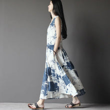 Load image into Gallery viewer, Lost Memory-off white linen sundress sleeveless long summer dresses