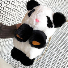 Load image into Gallery viewer, Lovely Panda Shape Plush Crossbody Bag Chain Phone Bag Shoulder Bags
