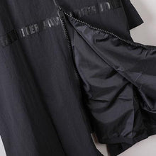 Load image into Gallery viewer, Luxury black  Coat oversize hooded maxi coat New big hem coats