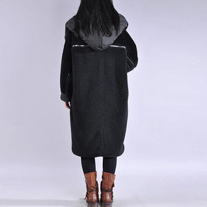 Luxury black coats plus size down jacket winter hooded winter coats