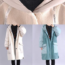 Load image into Gallery viewer, Luxury khaki winter parkas plus size clothing hooded pockets winter outwear
