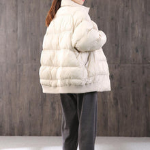 Load image into Gallery viewer, Luxury white warm goose Down coat plus size clothing dark buckle down jacket stand collar top quality Jackets