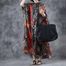 Laden Sie das Bild in den Galerie-Viewer, Maxi Dress Floral Print Casual Loose