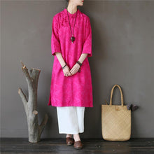 Load image into Gallery viewer, Modern bracelet sleeved Cotton summer clothes Sleeve rose Dress
