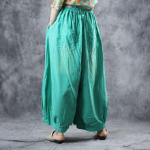 Load image into Gallery viewer, Modern clothes Fitted Summer Cotton Elastic Waist Ankle-Length Wide Leg Pants