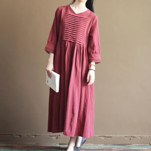 Mulberry linen summer maxi dress long sundresses plus size linen clothing
