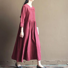 Load image into Gallery viewer, Mulberry linen summer maxi dress long sundresses plus size linen clothing