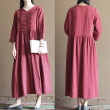 Laden Sie das Bild in den Galerie-Viewer, Mulberry linen summer maxi dress long sundresses plus size linen clothing