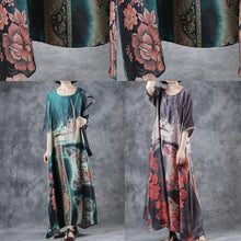 Laden Sie das Bild in den Galerie-Viewer, Natural blended Wardrobes Indian Summer Vintage Printed Half Sleeve Dress