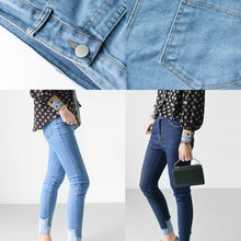 Laden Sie das Bild in den Galerie-Viewer, Navy denim leggings slim jeans