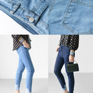 Navy denim leggings slim jeans