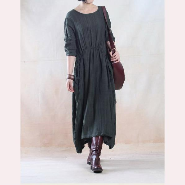Navy linen dresses limited edition linen maxi dress