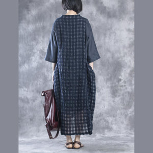 Navy maxi dresses linen dress two pices caftans