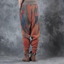 Load image into Gallery viewer, New  cotton  plus size prints warm winter woolen casual pants women vintage elastic waist trousers